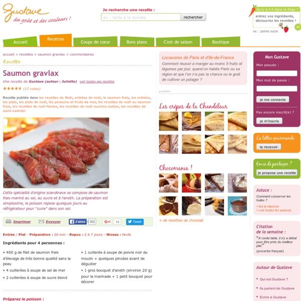 Saumon gravlax (recette scandinave : saumon frais mariné à l'aneth)