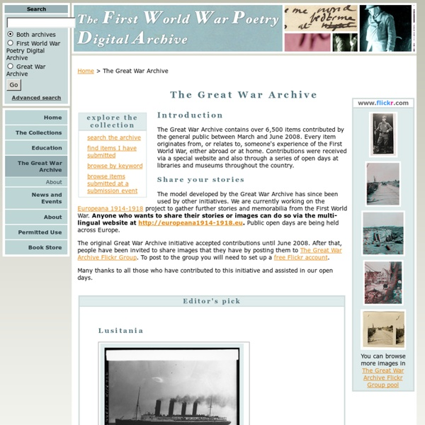 The Great War Archive