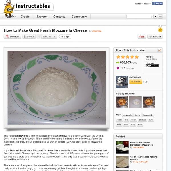 How to Make Great Fresh Mozzarella Cheese