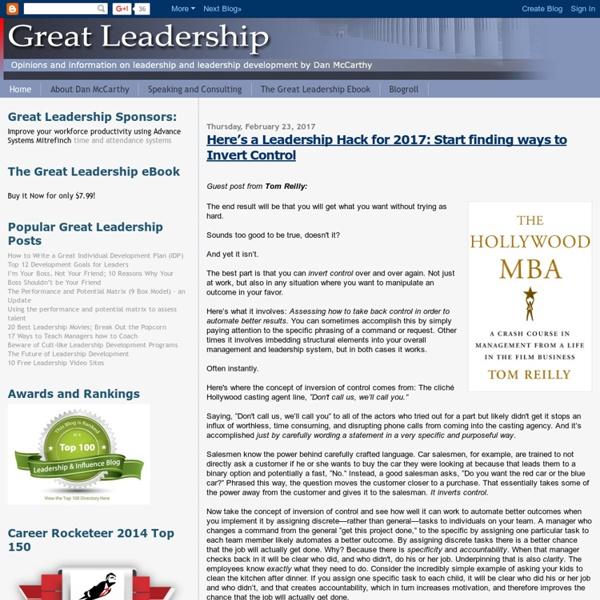 Great Leadership