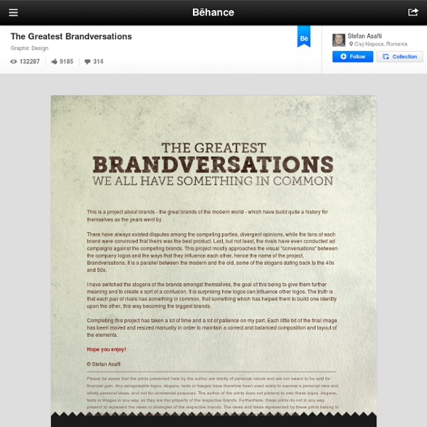 The Greatest Brandversations on the Behance Network