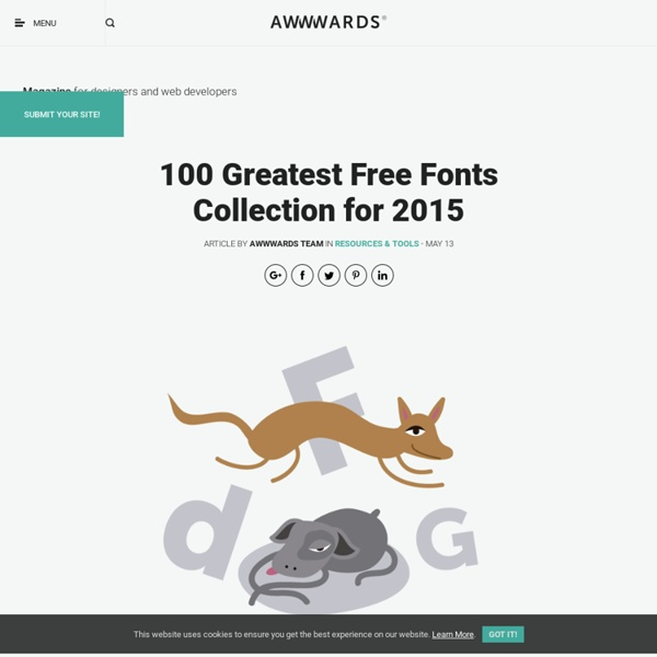 100 Greatest Free Fonts Collection for 2015