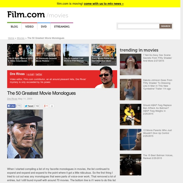 The 50 Greatest Movie Monologues - Film.com - Page 27983372