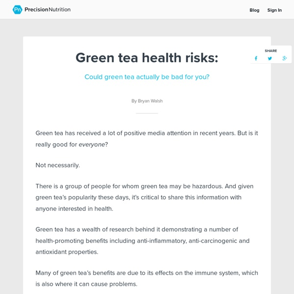 Research Review: Could Green Tea Actually Be Bad For YOU?