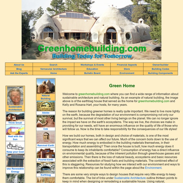 Green Home Building: Index