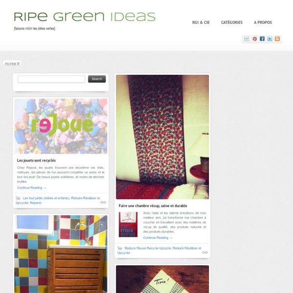 Faisons mûrir les idées vertes