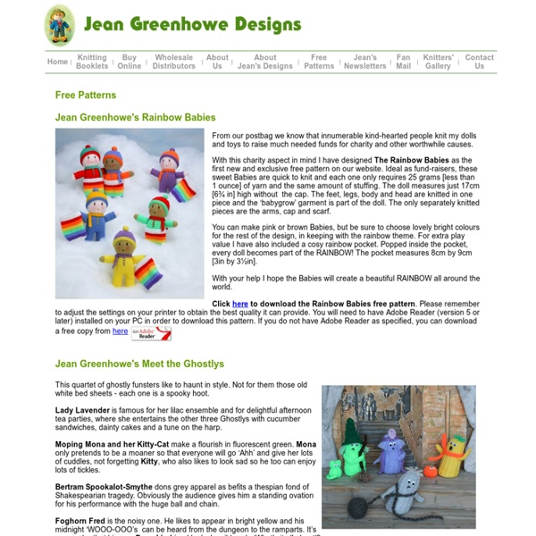 Jean Greenhowe Designs Official Website Jean Greenhowe Free