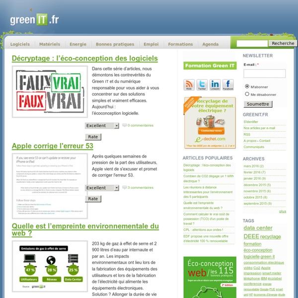 GreenIT.fr › Toute l'actualité du Green IT