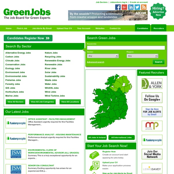 GreenJobs, Environmental Jobs and Renewable Energy Jobs in Ireland