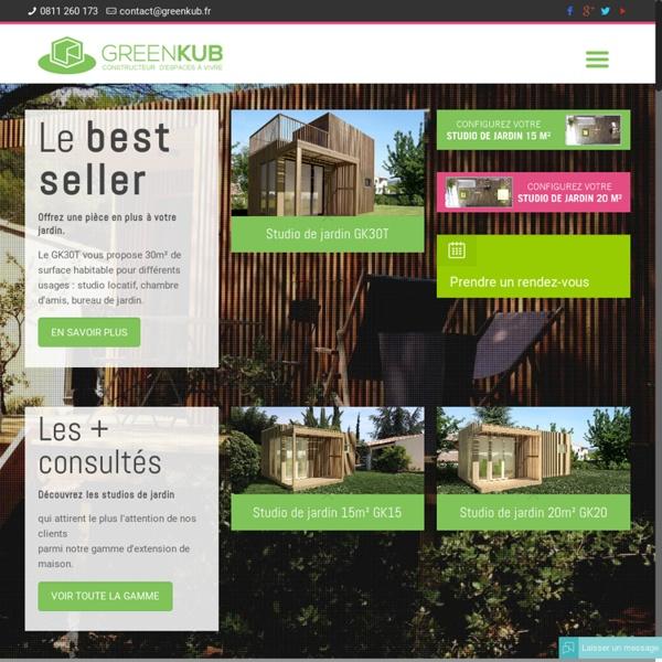 Extension de maison et studio de jardin
