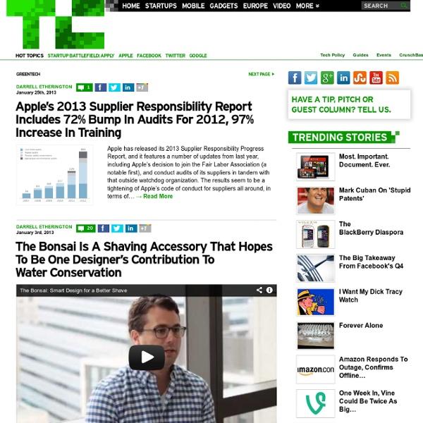GreenTech - TechCrunch