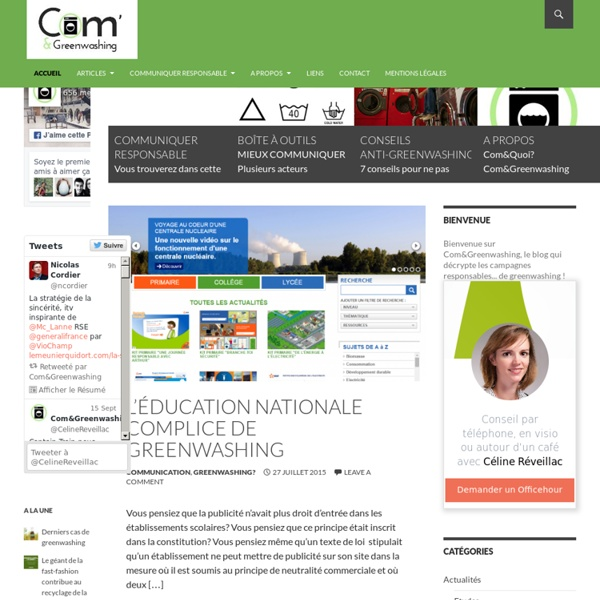 Com&Greenwashing -Greenwashing et Communication Responsable