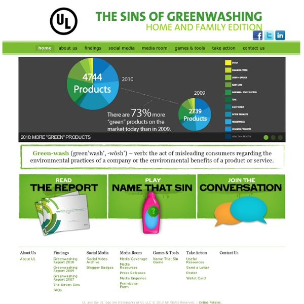 essay on greenwashing An updated version of the 2007 report the six sins of greenwashing has just been released like its predecessor, this version offers sensational findings: of 2,219 products making environmental claims that researchers found in north american retailers, over 98 percent committed one of several sins.