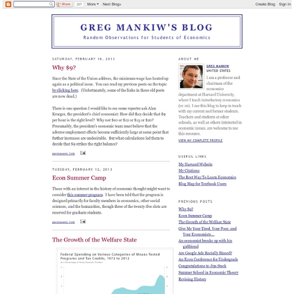 Greg Mankiw's Blog