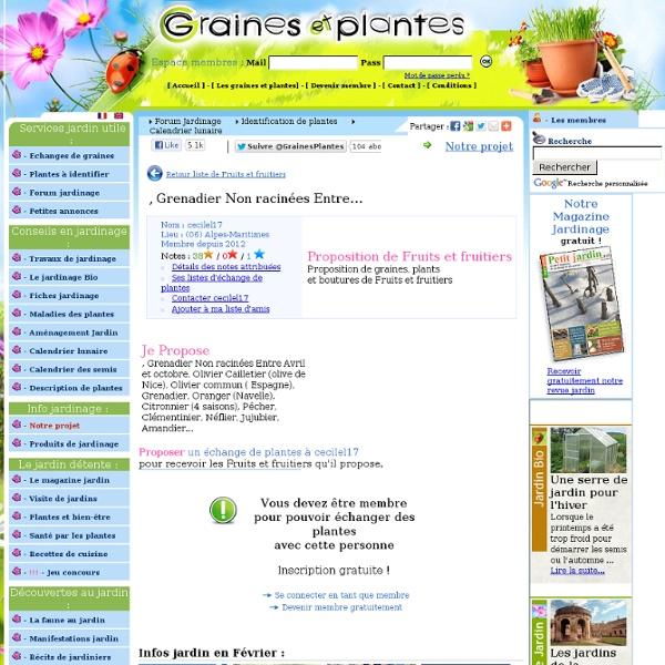 Echange graines et plantes