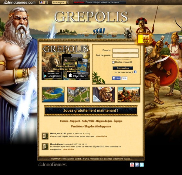 Grepolis - Le jeu par navigateur à l'époque de l'Antiquité