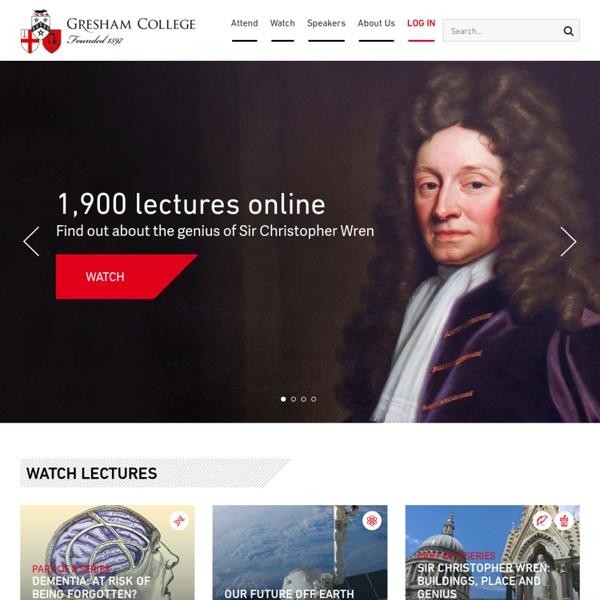 Free Public Lectures