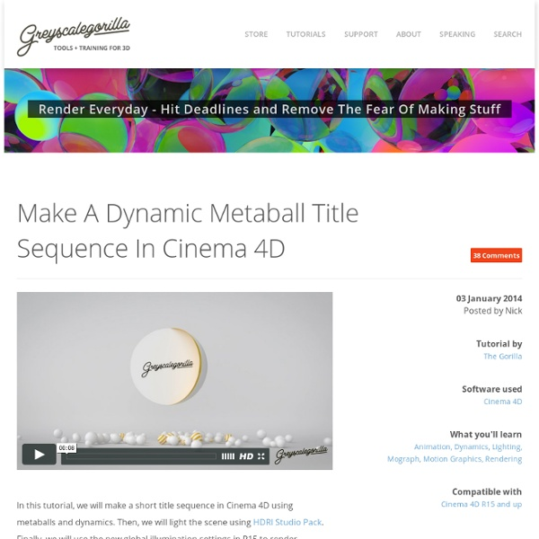 Cinema 4D And After Effects Training, Tutorials, and Plugins for Motion Graphic Designers