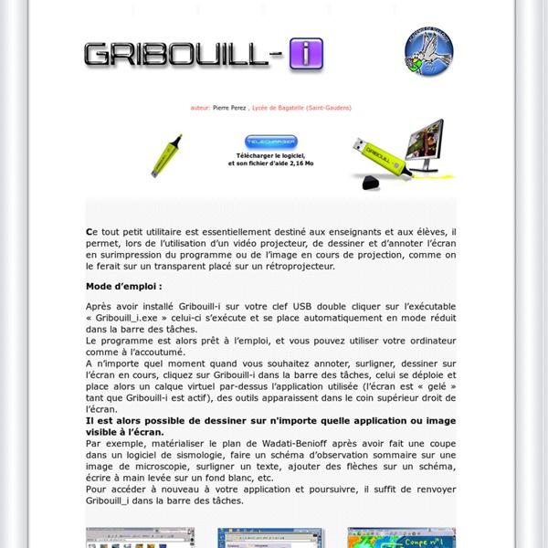 Gribouill_i logiciel gratuit de dessin auteur Pierre Perez