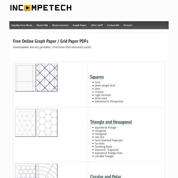 Grid Paper PDFs