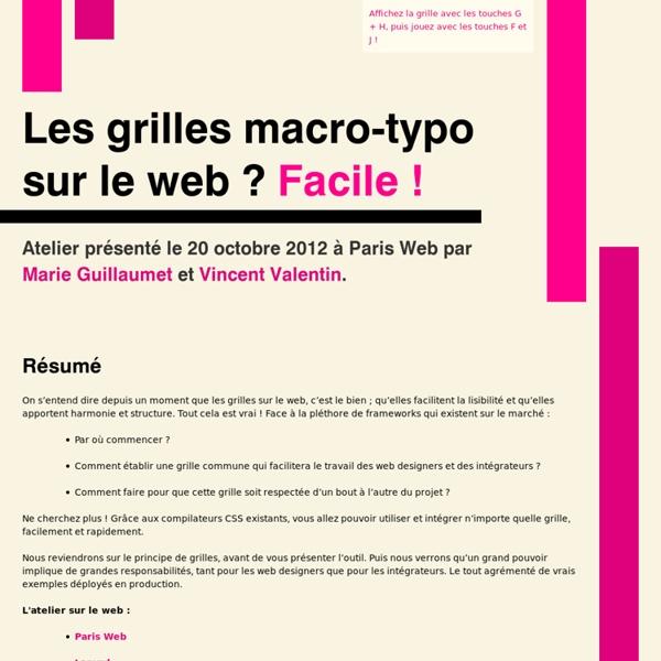 Les grilles macro-typo sur le web ? Facile ! – Paris Web 2012