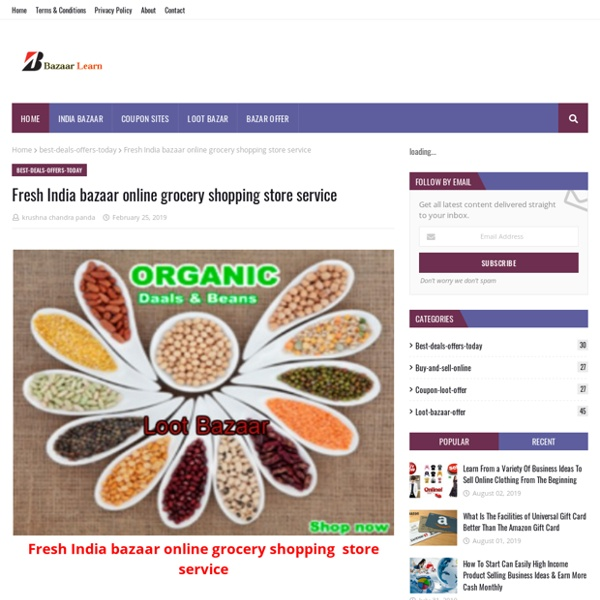 Fresh India bazaar online grocery shopping store service