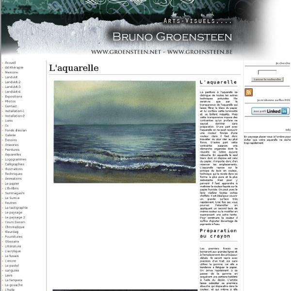 LA TECHNIQUE DE L'AQUARELLE BRUNO GROENSTEEN MOUSCRON BELGIQUE