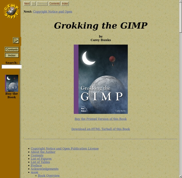 Grokking the GIMP - Learning Advanced Image Editing Techniques