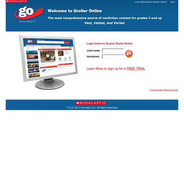 Grolier Online Login