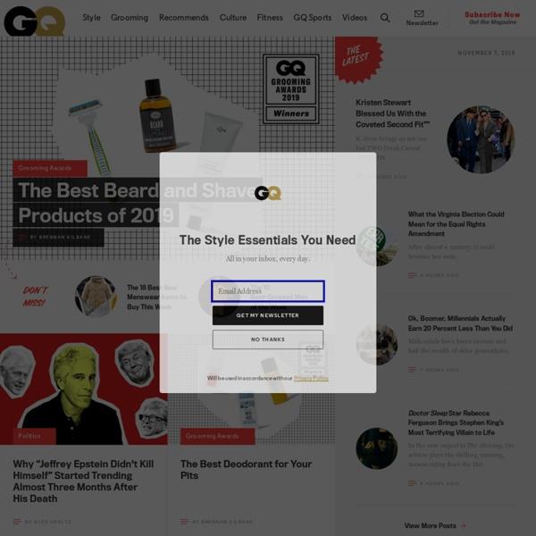 GQ Magazine Online: Look Sharp, Live Smart