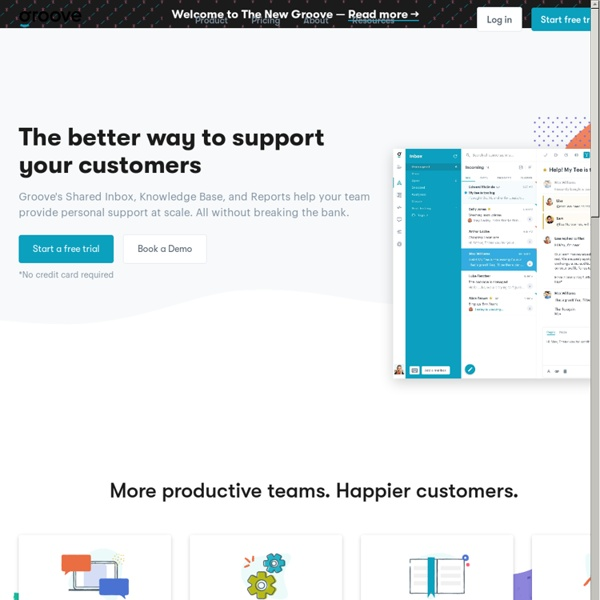 Simple Online Help Desk Software by Groove