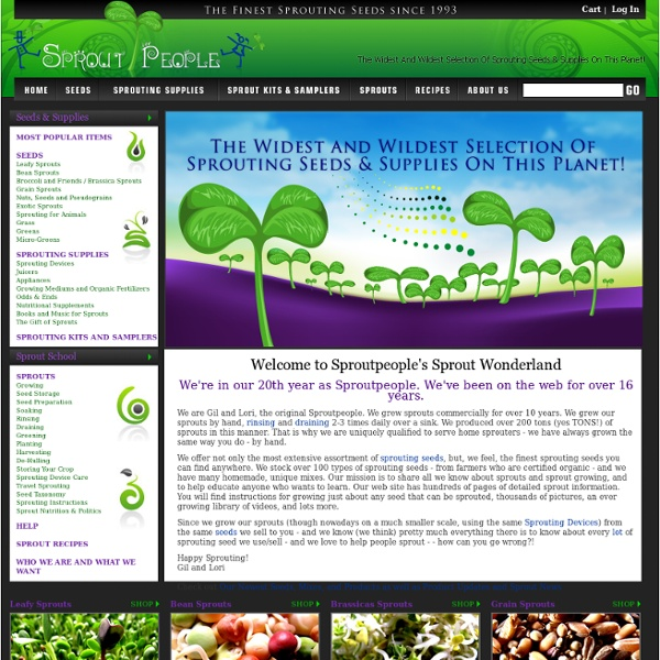 The Grooviest Sprouting Seeds on Our Planet!