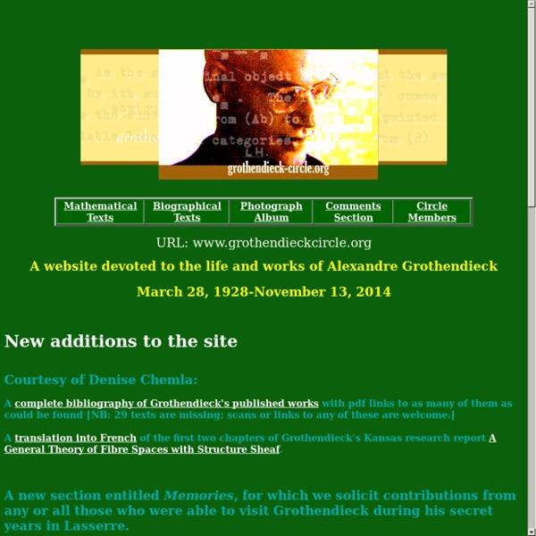 Grothendieck Circle