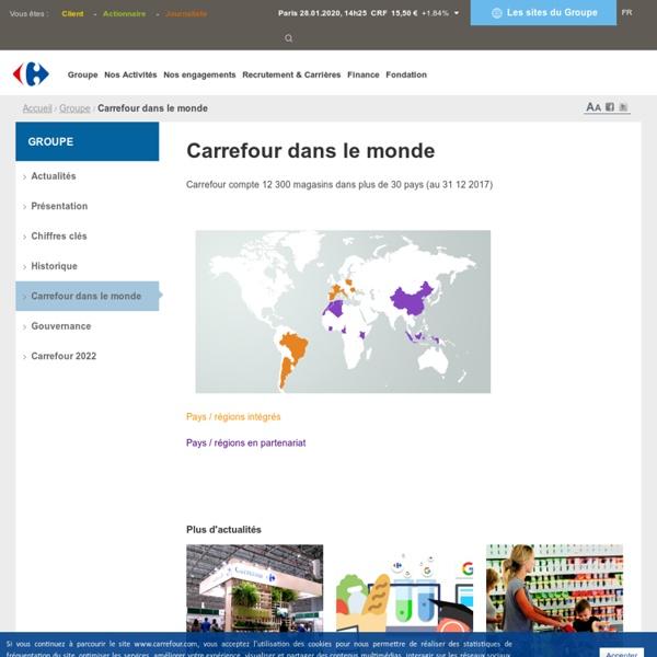 Groupe > Carrefour dans le monde