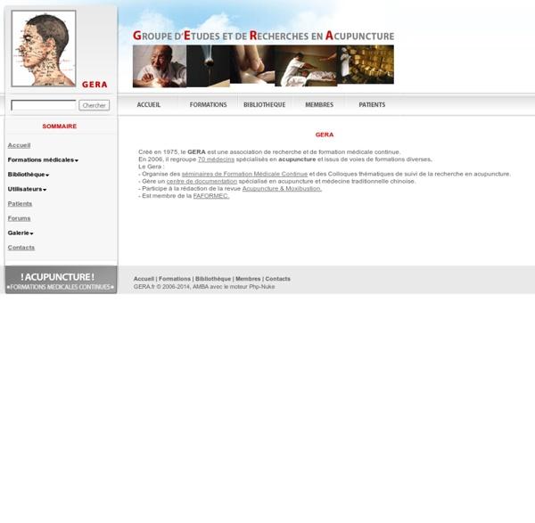 Médecine Chinoise / Groupe d'Etude et de Recherche en Acupuncture