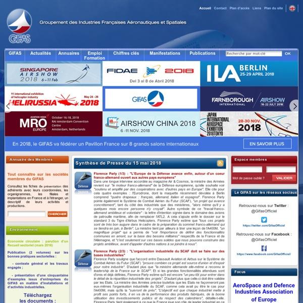 GIFAS - Groupement des Industries françaises aeronautiques et spatiales