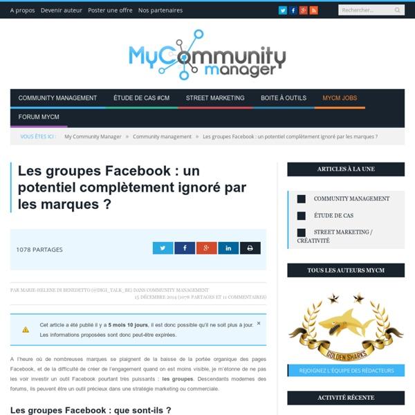 Groupes Facebook : un potentiel ignoré par les marques?