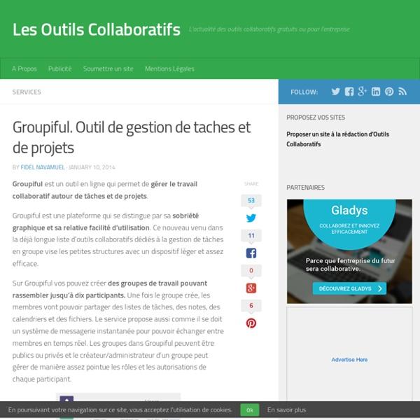 Groupiful. Outil de gestion de taches et de projets