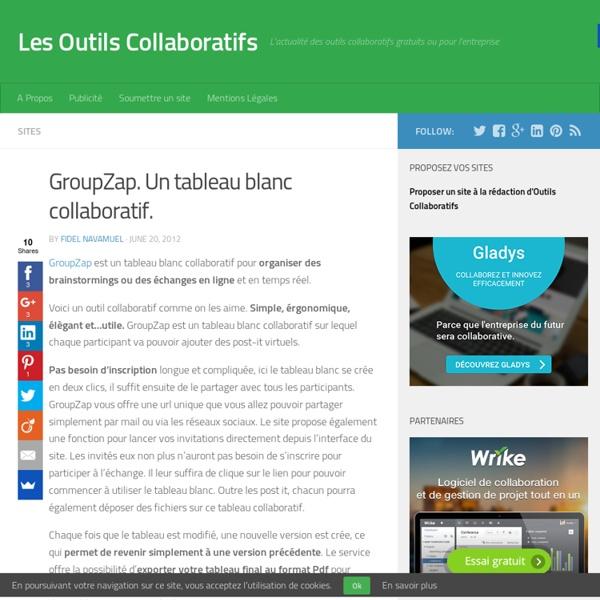 GroupZap. Un tableau blanc collaboratif.