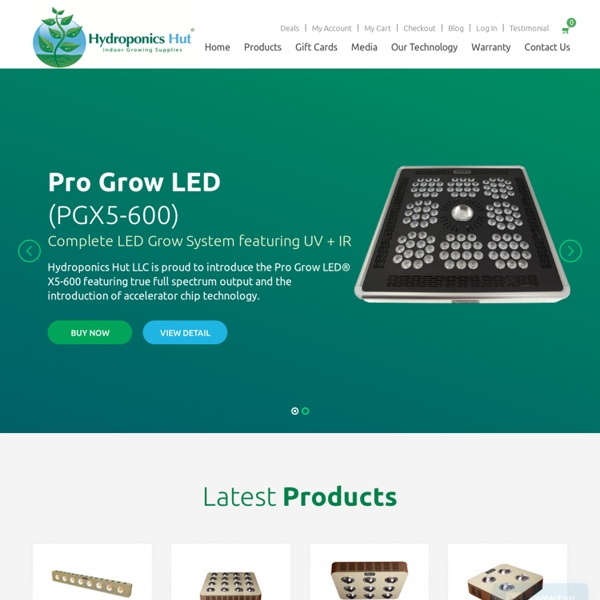Indoor LED Grow Lights-Hydroponicshut