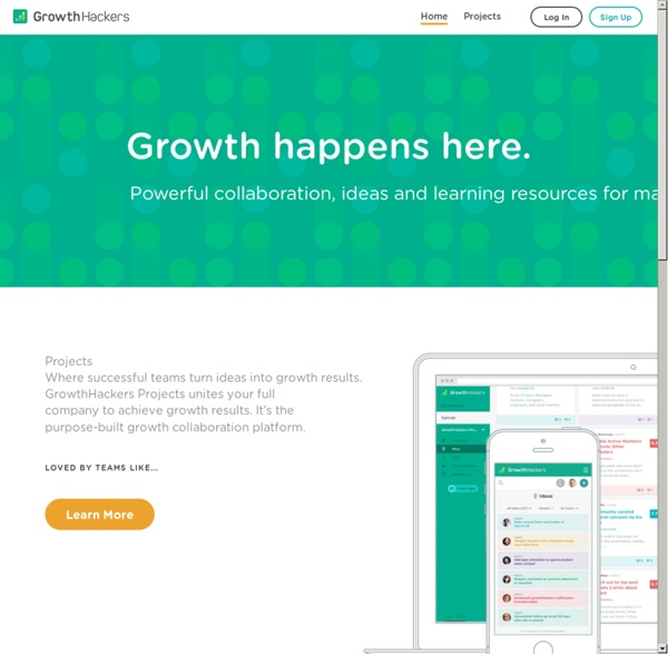 GrowthHackers - A Community for Growth-Focused Marketers