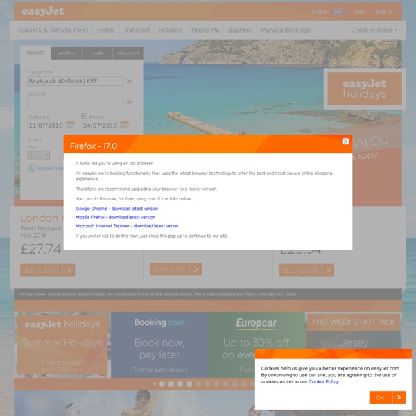 Book direct for our guaranteed cheapest prices - easyJet