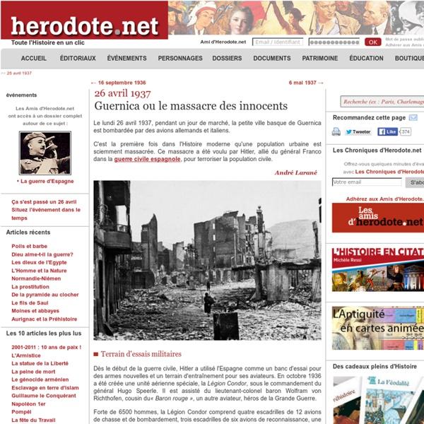 26 avril 1937 - Guernica ou le massacre des innocents