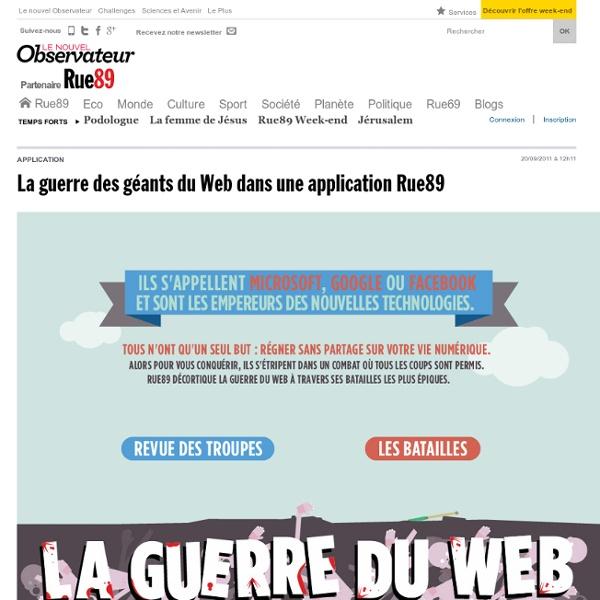 La guerre des géants du Web dans une application Rue89