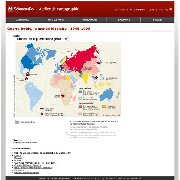 Guerre froide, le monde bipolaire - 1945-1990