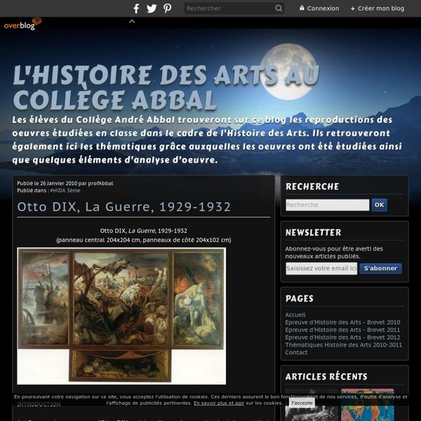 Otto DIX, La Guerre, 1929-1932 - L'Histoire des Arts au Collège Abbal