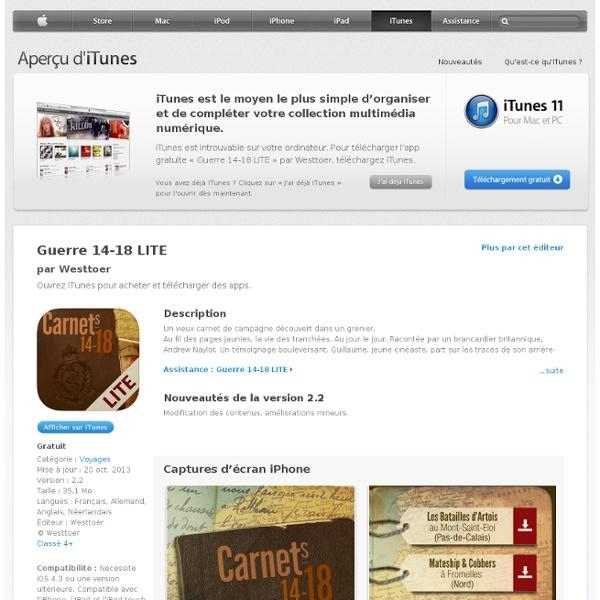 Guerre 14-18 LITE pour iPhone, iPod touch et iPad dans l'App Store sur iTunes