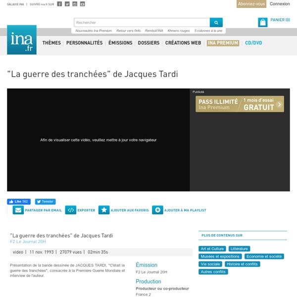 """""""La guerre des tranchées"""" de Jacques Tardi"""