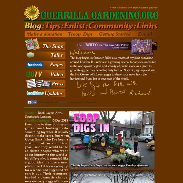 The Guerrilla Gardening Homepage