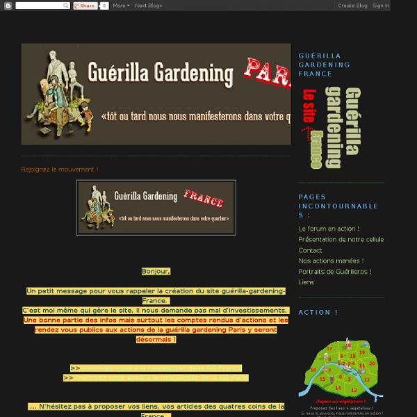 Guerrilla Gardening Paris